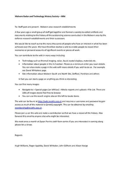 File:Invitation Letter1 pdf - Malvern Radar And Technology